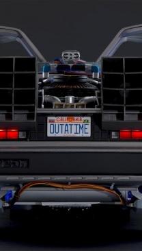 Create your own DeLorean time machine replica model
