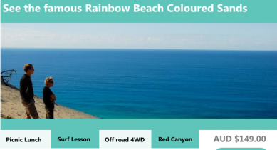 1 Day Rainbow Beach 4WD Adventure Tour